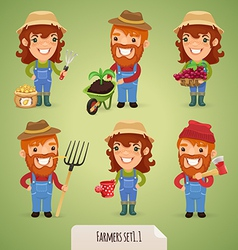 farmers set1 1 vector image