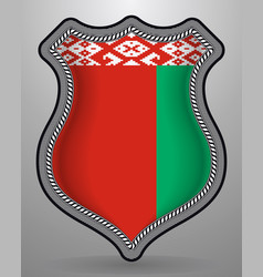 Flag of belarus badge and icon vector