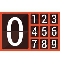 Flat countdown number vector image