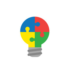 flat design style concept of bulb-shaped four vector image