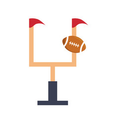 Fooball goal post vector
