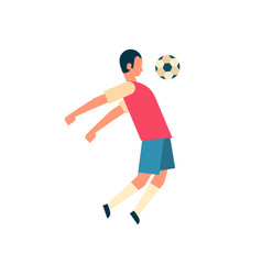 Football player hitting ball isolated sport vector