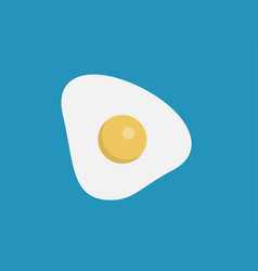 fried egg icon sign symbol vector image