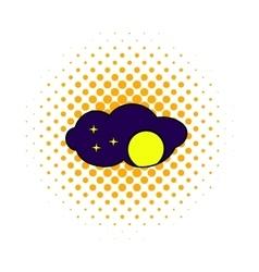 Full moon icon comics style vector image