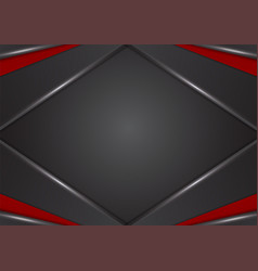 Geometric red and black color abstract background vector