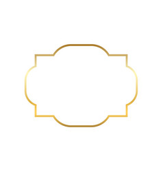 gold frame beautiful simple golden design vector image