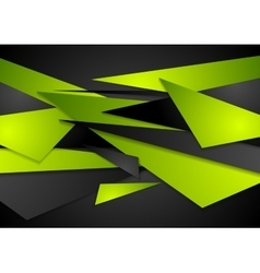 Green and black geometric abstract background vector image