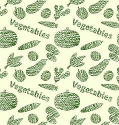 Green veg pattern vector