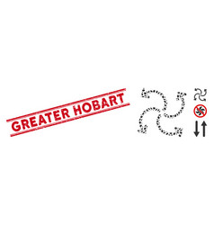 Grunge greater hobart line stamp and mosaic vector