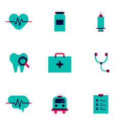 Healthcare and medical flat icon vector