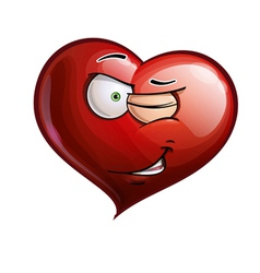 Heart Faces Winking vector image