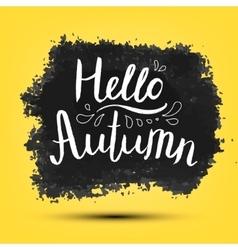Hello autumn poster card banner vector