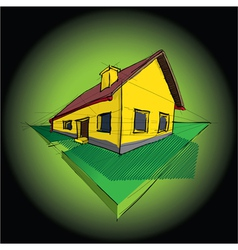 House Diagram vector image
