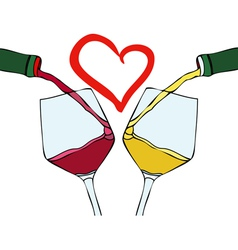 I love good wine vector image