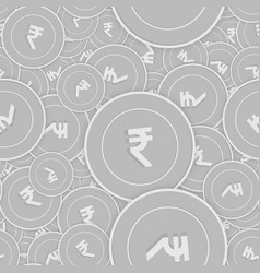 Indian rupee silver coins seamless pattern authen vector