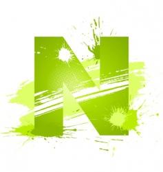 Letter N background vector image
