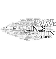 Line word cloud concept vector