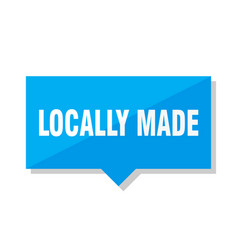 Locally made price tag vector