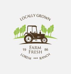 Logo tractor vector