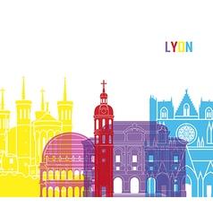 Lyon skyline pop vector