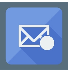 Mail icon envelope with place for sign Flat vector image