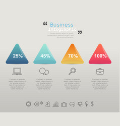 modern business infographic vector image