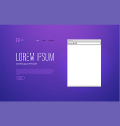 modern trendy landing page template with sample vector image