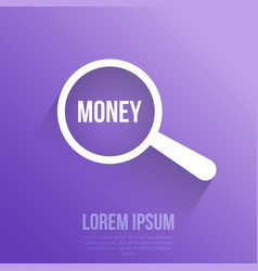 money word magnifying glass vector image
