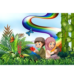 Muslims and park vector