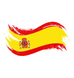 national flag of spain designed using brush vector image