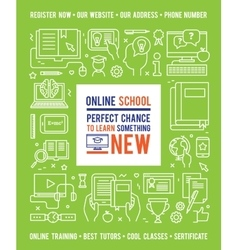 Online School Education Design Concept vector