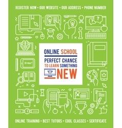Online school education design concept vector