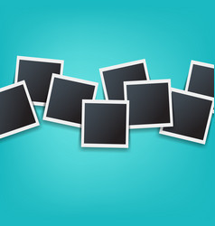 photos border isolated mint background vector image