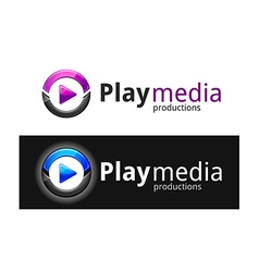 play media logo vector image