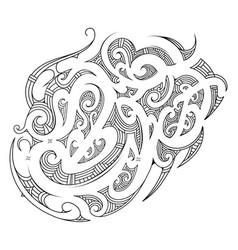 polynesian ornament with ethnic elements vector image