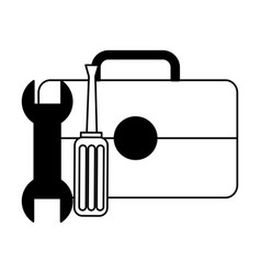 repair support toolbox wrench screwdriver vector image