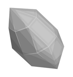Rough gemstone icon in monochrome style isolated vector