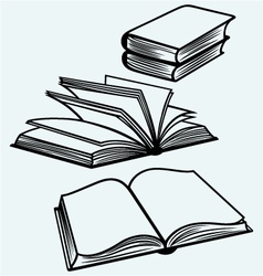 School textbooks vector