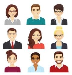set business men and women vector image