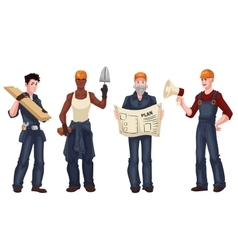 Set of industrial workers - foreman builder vector