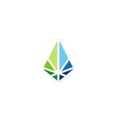 Shape prism geometry company logo vector