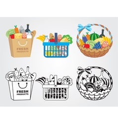 Shopping food vector image