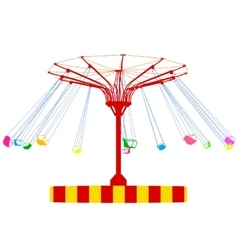 Silhouette atraktsion colorful ferris wheel vector image