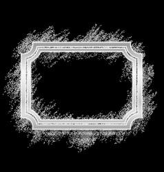 silver frame beautiful glitter design vintage vector image