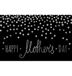 Silver textured Happy mothers day inscription vector