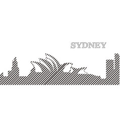 Skyline of sydney vector