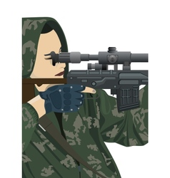 Sniper and sniper scope vector