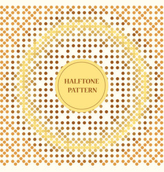 Square white background size with halftone vector