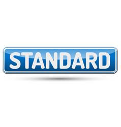 Standard - abstract beautiful button with text vector