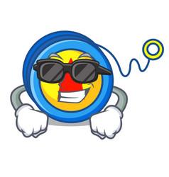 Super cool yoyo character cartoon style vector